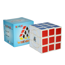 WitEden Crazy 3x3x3 Cube White Speed Magic Cube Rotational Twisty Puzzle Cubes Special Educational Toys