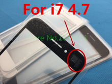 10pcs/lot NEW Replacement LCD Front Touch Screen Glass Outer Lens for iphone 7 4.7inch A+