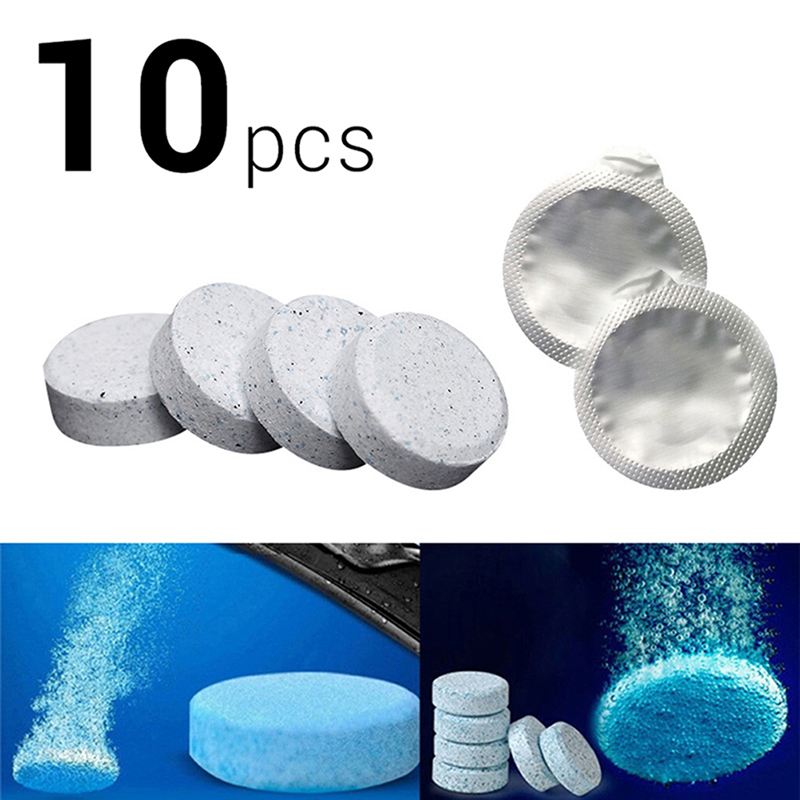 10PCS (1PC=4L Water) Brand New Car Solid Wiper Fine Car Auto Window Cleaning Car Windshield Glass Cleaner(China)