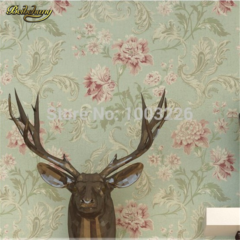 beibehang Vintage printing wall covering background wall modern mural flower wall paper wallpaper bedroom papel de parede 3d<br>