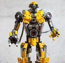 Hot Sales 2016 Transformation Bumblebee Robots Iron Craft For Gift Home Bar Decoration Height 46cm