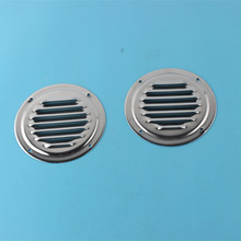 "A Pair Roud Louvred Stainless Steel Air Vent Grille Metal Wall Ventilation Double deck Design Dia4""(China)"