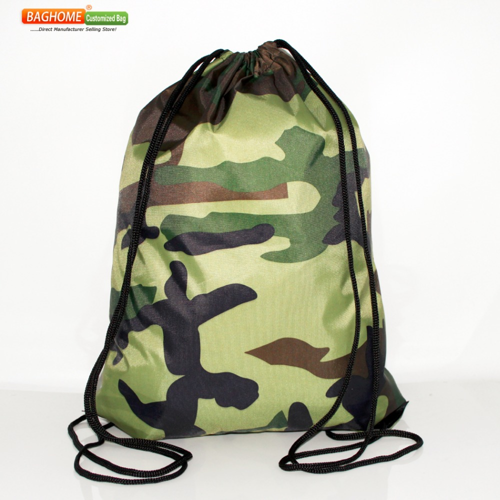 NEW Casual Camo Drawstring Backpack For Teenage Boys Girls School Bag Waterproof Travel Bag Packing Cubes Large Capacity Mochila(China (Mainland))