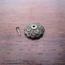 100pcs Antique Brass Bronze Upholstery Nail Jewelry Gift Wine Case Box Decorative Tack Stud Hardware With Nail C 15mm(China)