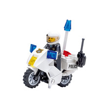 ENLIGHTEN City Police Motorcycle Patrol Building Blocks Sets Bricks Model Kids Toys Compatible Legoe