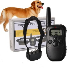 Hot Electronic Dog Collar Remote Control Anti Bark Dog Shock Training Collar With LCD Display 998D Included 2 AAA batteries(China)