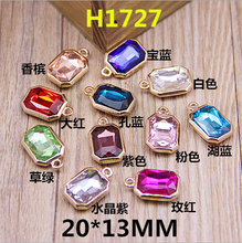 2015 Newest Mixed Color Crystal Rhinestone Jewelry Charms Gold Tone DIY Bracelet Phone Chain Keyring Handbag Earring Charm