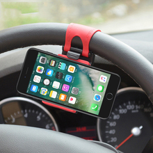 Universal Car Phone Holder Steering Wheel Bike Clip Mount Mobile Phone Stand Socket For Samsung iPhone Redmi Xiaomi Note(China)