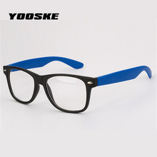 YOOSKE Men Women Glasses Frames Rice nail Spectacle Frame Goggles Eyeglasses Transparent Glasses With Clear Lenses Eyewear