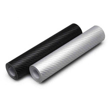 3D Carbon Fiber Vinyl Car Wrapping Foil Carbon Fiber Car Decoration Sticker black white red car styling(China)