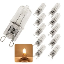 10x Quality 25W 40W 60W G9 2800-3000K Halogen Lamp Bulb 220V Capsule Clear Warm White Lights 220-230V(China)