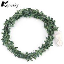 20-LEDs Leaf Garland Battery Operate Copper LED Fairy String Lights for Christmas Wedding Decoration Party Event(China)
