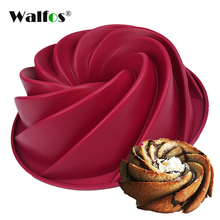 WALFOS 24.5*8.9cm Big Swirl Shape Silicone Butter Cake Mould Kitchen Baking form Tools For Cake Bakery baking dish Bakeware Mold