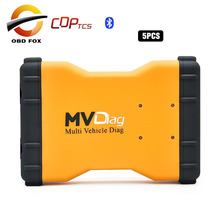 Multi Vehicle Diag MVD cds tcs 2015R3 Bluetooth Double Blue PCB tcs pro  tcp OBDII car truck diagnostic tool 5pcs/lot DHL free