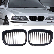 POSSBAY 1 Pair Classic Matte Black Car Front Kidney Grills Grille For BMW 5-Series E39 M5 1998-2003 Car Styling(China)