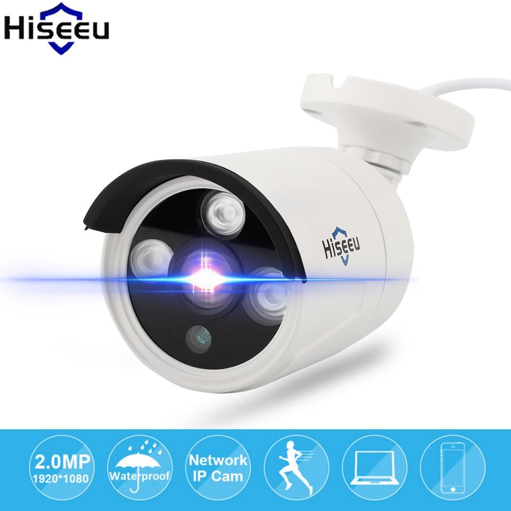 Hiseeu IP Camera POE 1080P 2.0MP Bullet Camera ONVIF 2.0 Waterproof Outdoor Endoscoop Night Vision Security Camera Dropshipping<br>