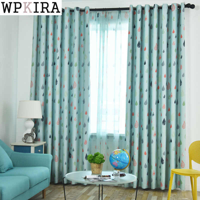 Cartoon Sailing Bedroom Window Blackout Curtains and Tulle for Children Quality Boys Room Drapes 118&30