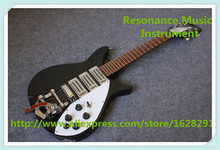 Hot Selling China Glossy Black Ricken Electric Guitar With Bigsby Same As Pictures For Sale