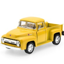 Brand New 1/38 Scale Car Toys 1956 Ford F100 Pickup Diecast Metal Pull Back Car Model Toy For Gift Kids Collection Free Shipping