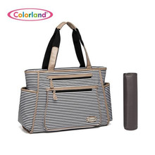 Colorland New Diaper Bag For Mom Stripe Nappy Bag Durable Baby Bags For Stroller Baby Changing Bag Bolso Maternidad Tote 2017