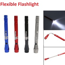 Outdoor Camping Tactical Flash Light Torch Spotlight 3x LED Telescopic Flexible Magnetic LED Flashlight Tactical Pick Up Tool