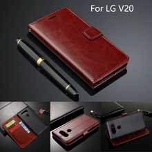 Cover Case For LG V20 Leather Ultra Thin Card Holder Cellphone Wallet Case For LG V20 Case Leather Flip Luxury Fundas H990N 5.7(China)