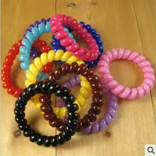 5PCS Hair Accessories Gum Telephone Wire Hairbands Headwear Elastic Spring Hair Bands Hair Ties