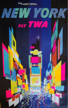 American Howard Hughes Trans World Airlines TWA New York Design Classic Vintage Poster Decorative DIY Art Home Bar Posters Decor(China)