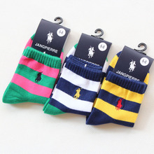 2017 Spring Cotton Girls Socks 6 pairs/lot 3-12T Kids Socks Leisure Color Bar Baby Boys Socks For Children Autumn High Quality(China)