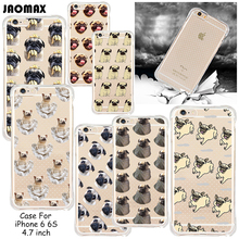 Fashion Funny Animal Dog Shockproof Case For iPhone 6 6S Add Dust Plug Transparent Clear Soft Silicone Phone Cover(China)