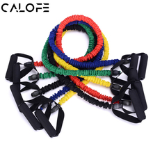 140cm Yoga Pilates Resistance Bands Pull Rope Tube Bands Fabric Corssfit Strength Excerise Latex Workout Fitness Equipments Z30