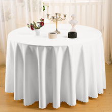 Table Cloth Of  Wedding Table Covers Banquet  Round Table Cloth White Plain Dyed Tablecloth Table Overlay Tablecloths