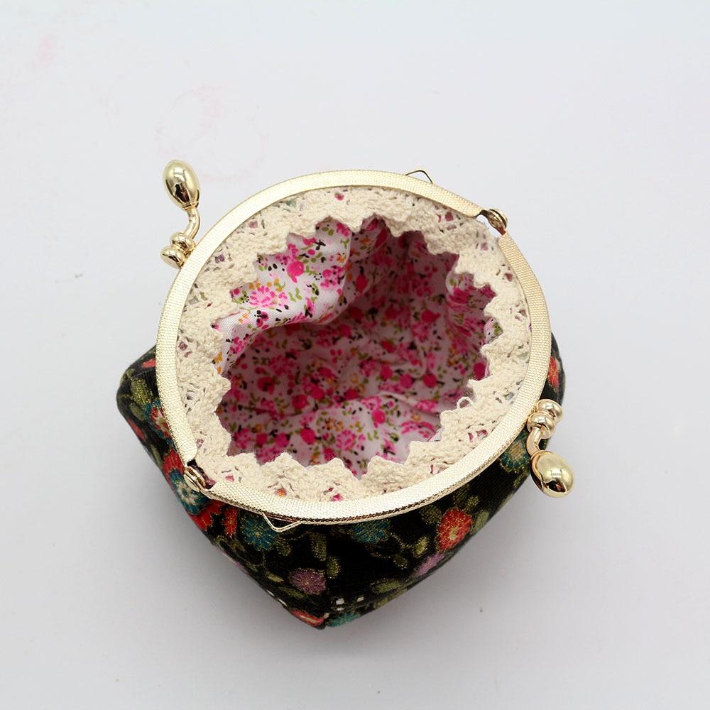 Mini Coin Purse Kiss Lock Girls  Change Purse Hasp Wallet women lady flower bags  (13)