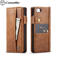 Buy CaseMe Luxury Retro Phone Cases Apple iPhone 7 8 Cover iPhone7 iPhone8 PU Leather Case Flip Wallet Card Slot Back Cover for $9.99 in AliExpress store