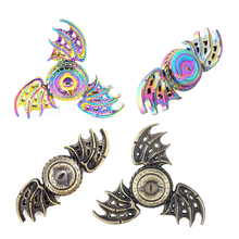 Gold Rainbow Brass Metal Fidget Spinner Dragon Eye Hand Spinner Finger Hand Spiner Stress Classic Toys Spinning Top(China)