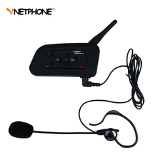 Football Referee Intercom Headset Vnetphone V4C 1200M Full Duplex Bluetooth Interphone with FM for 4 Users 1PCS