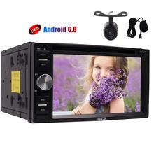 Quad-core Android6.0 Stereo System 6.2'' CD DVD Player Double din GPS in Dash Car Radio with USB/SD External Micro+Backup Camera(China)