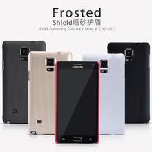 For Galaxy Note 4 NILLKIN Super Frosted Shield Hard Case For Samsung galaxy Note 4 N9100 Cover case +screen protector Free ship