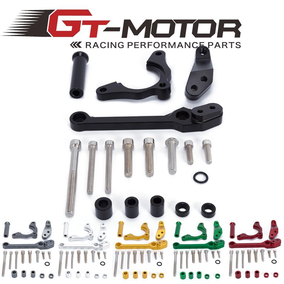 GT Motor - For KAWASAKI Z900 Z 900 2017 Motorcycles Adjustable Steering Stabilize Damper Bracket Mount Support Kit  <br>