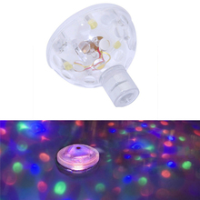 Colorful RGB LED Underwater Light Changing Glowing Waterproof Swimming Pool Float Spa Bath Fountain Light Lamp For Wedding Party(China)