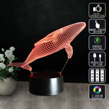 New LED 3D Night Light Creative Shark Three-dimensional Kids Bedroom Living room Bedlamp usb Table Lamp