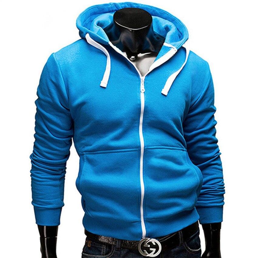 Fashion Brand Hoodies Men Casual Sportswear Man Hoody Zipper Long-sleeved Sweatshirt Men Five Colors Slim Fit  Men Hoodie