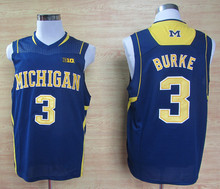 #4 Chirs Webber #3 Trey Burke Michigan Wolverines Retro throwback College Basketball Jersey(China)