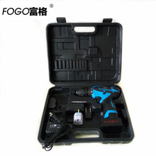 25V 1700R/MIN two speed Cordless drill Lithium Battery hand electric drill bit home electric screwdriver power tool set box case