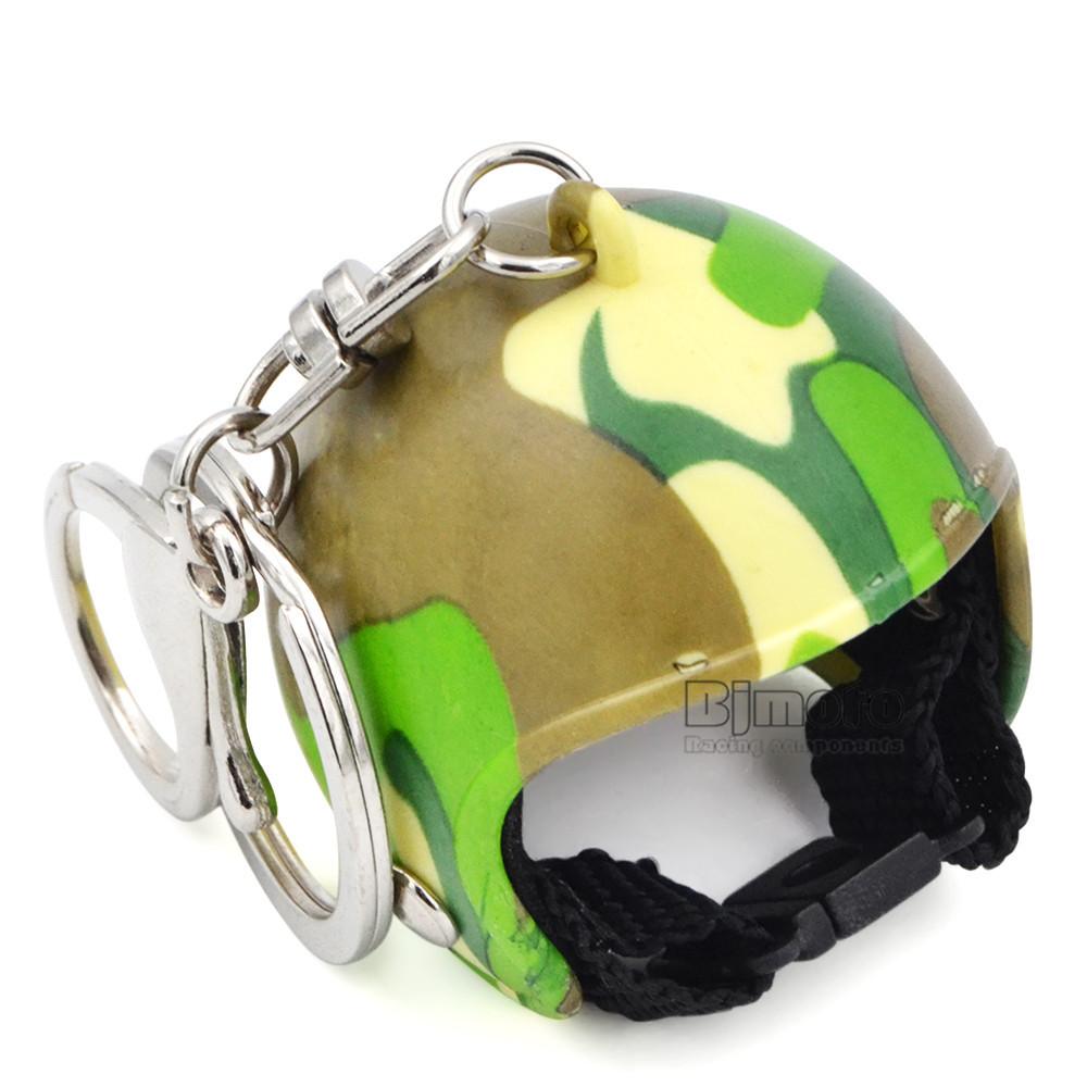 Motorcycle Helmets Key chain Women Men Cute Safety Helmet Car Keychain Bags Hot Key Ring For Kawasaki Honda Yamaha (7)