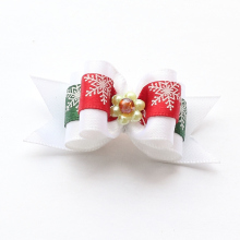 Armi store Handmade Accessory Christmas Snowflake Models Ribbon Dog Bow Dogs Grooming Bows6025022 Pet Puppy Supplies