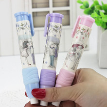 1PC Cute Designer Students Pen Shape Eraser Rubber Stationery Kid Gift Toy School Supplies 3 Colors