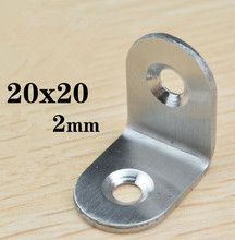 Stainless Steel Angle corner / 2 hole Right Angle Bracket / Metal Furniture fittings 90 Degree 50PCS