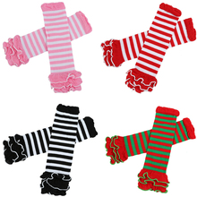 Newest Baby Leg Warmers Girls' Legging Tights 100%Cotton Cute Rainbow Socks Infant Toddler Ruffle Warmers Kids Leg warmers(China)
