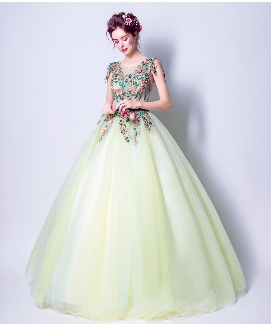 Angel Wedding Dress Marriage Bride Bridal Gown Vestido De Noiva 2017 Green, embroidery, the wizard of Oz 2217 16
